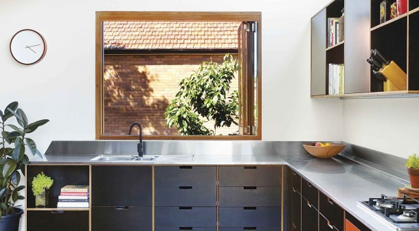 The renovated miner's cottage feels expansive, despite only an extra 30 square metres being added to its footprint. The existing timber floors were restored and float-filled in order to minimise underfloor draughts.