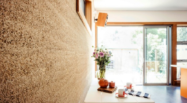 Hempcrete has been used for hundreds of years and builder Nick Sowden has embraced it, to the extent of going to Miasa Mura in Japan to visit a 300-year-old hempcrete building. Rylock double-glazed aluminium doors and windows have been used throughout new areas.