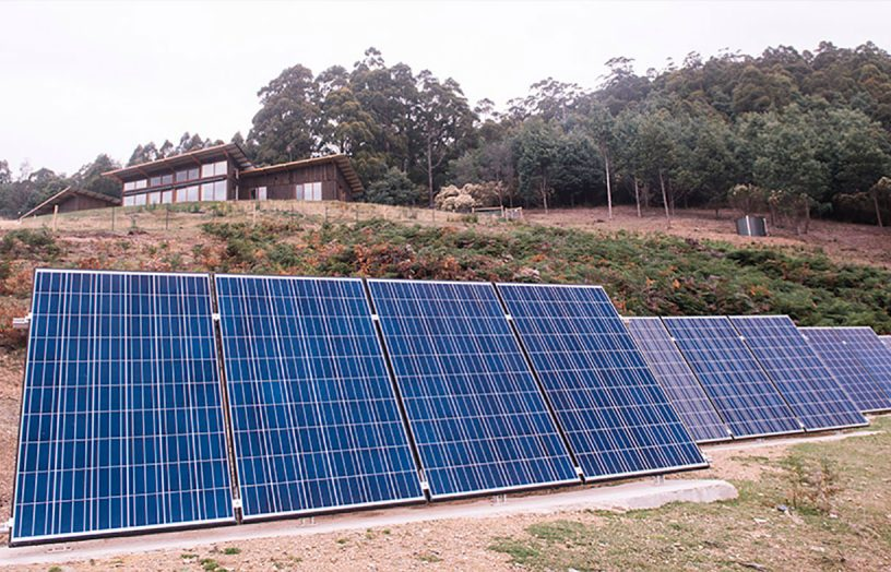 PV and hydro powered Tassie off-grid home