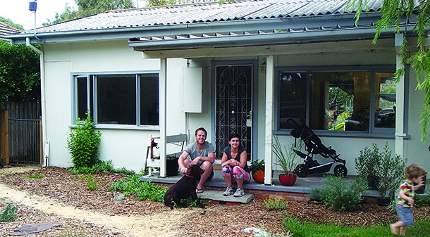 """Jess and Lucien purchased one of the last classic beach shacks in the area, and want to renovate it to be as comfortable and energy-efficient as possible: """"Around here most of the old places have been knocked down – people are rebuilding right to the boundaries."""""""