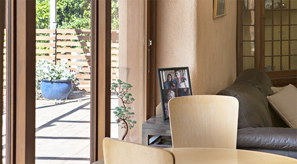 Windows and doors are cedar-framed double-glazed units with a Viridian coating to improve their thermal performance.