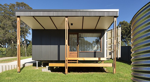 """Simon and Elise's brief was for a small house that would have a low impact on the site and no excavation. """"We wanted minimal concrete; as much sustainable material as possible in the build; zero-VOC finishes; natural wool insulation,"""" says Simon."""