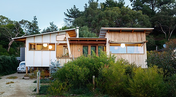 """The 7.1 Star family home uses very little energy thanks to excellent sustainable design and the couple's determination to """"need less and use less""""."""