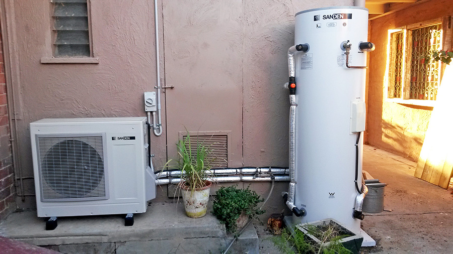 heat pumps are electric water heaters that provide hot water very  efficiently in most climates, saving up to 78% over a standard resistive element  heater