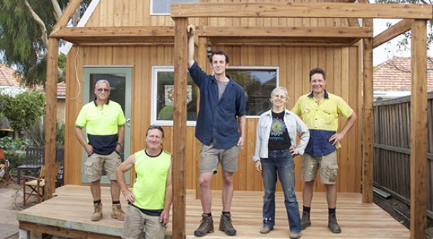 The project was a genuine collaboration between owner Vicky Grosser, designer Dan Prochazka, local builder Mark Lane and carpenters Duff Swanson and Pete Baird.