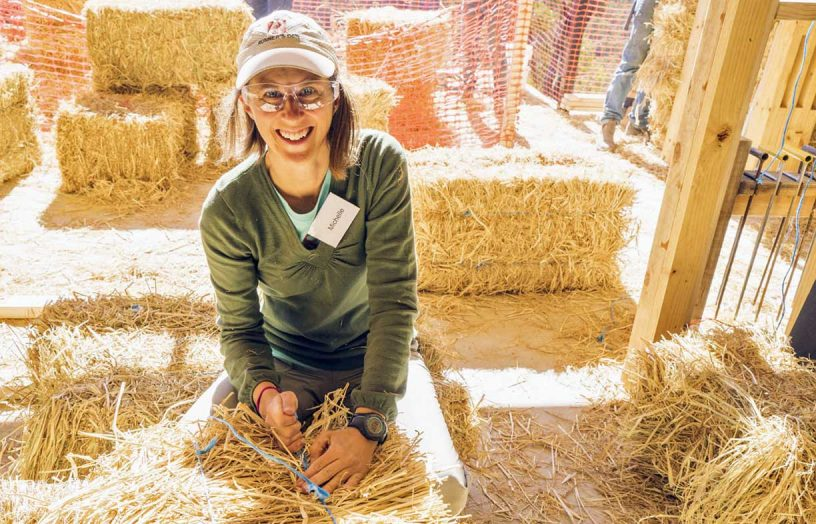 A house built of straw: Learn how with a strawbale workshop