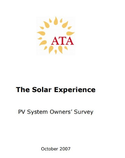 Solar System Owners' Survey