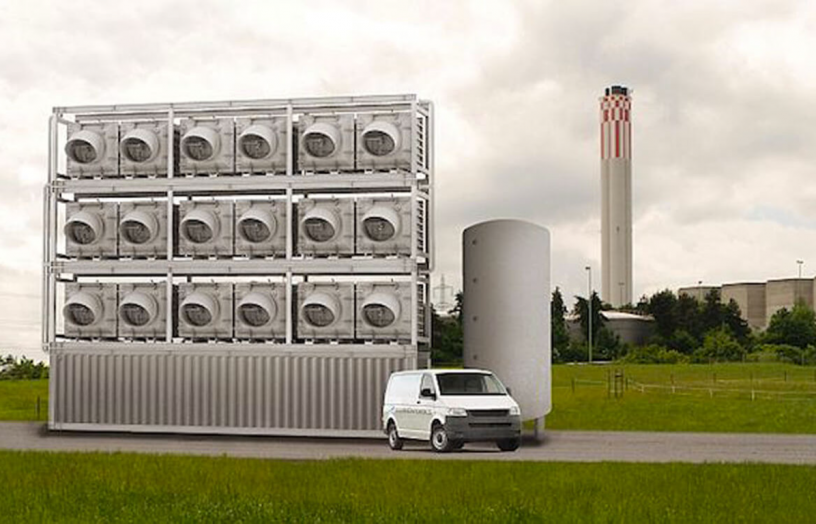 This is the kind of machine that is envisaged will be needed to draw down the carbon dioxide that one house emits over the space of a year. However, these will cost trillions of dollars to build, and the technology is not currently available at the required scale. And we're in a race against time. Image: Climeworks