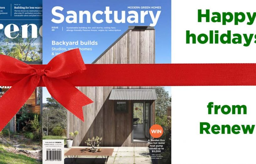 Get 10% off gift subscriptions to Renew and Sanctuary magazines for the holidays