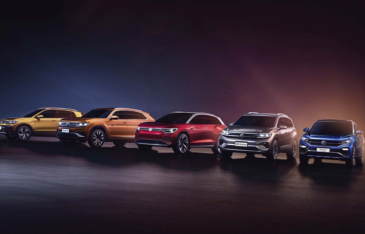 Volkswagen launches model offensive in China.