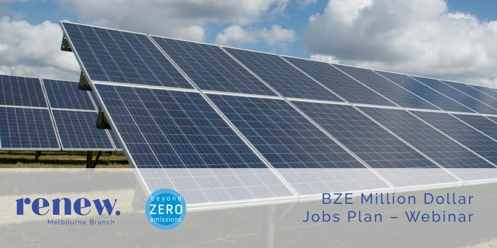 Webinar: BZE Million Jobs Plan