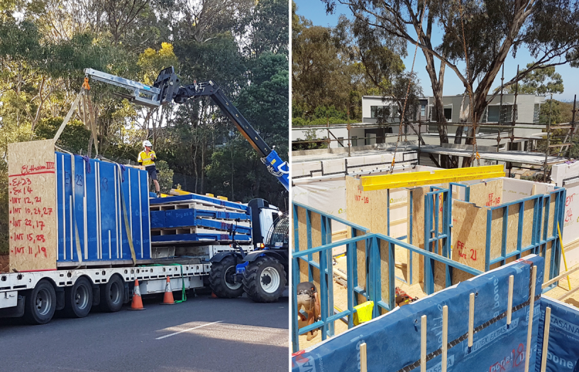 From conception to execution: the evolution of a development by Melbourne prefab company CarbonLite, which uses their proprietary structural insulated paneling system to allow for rapid, straightforward construction.