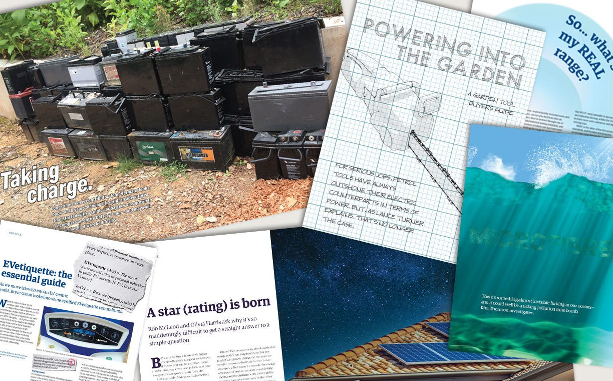 Renew 155 out now: e-waste recycling, electric garden tools buyers guide and more